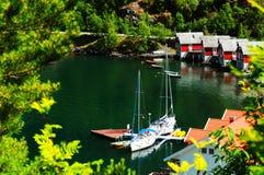 Het dorp Noorwegen van Flam Stock Foto