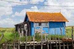 Het dorp Oleron Frankrijk van de oester Stock Afbeeldingen