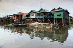 Het dorp op het water Stock Foto's