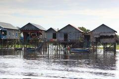 Het dorp op het water Stock Fotografie