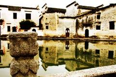 Het dorp representatief voor Hui Style Architecture in China royalty-vrije stock foto's