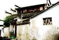 Het dorp representatief voor Hui Style Architecture in China royalty-vrije stock afbeelding