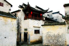 Het dorp representatief voor Hui Style Architecture in China stock foto's