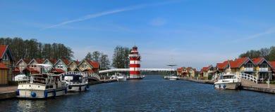 Het dorp Rheinsberg van de haven Royalty-vrije Stock Foto's