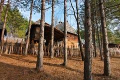 Het dorp Sirogojno van Ethno Royalty-vrije Stock Foto's
