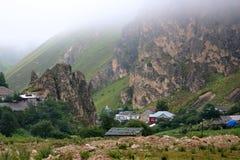 Het dorp tussen de canions Stock Foto's