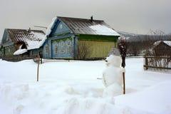Het dorp Ural. stock foto's