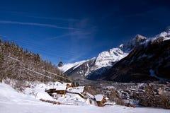 Het dorp van alpen Royalty-vrije Stock Foto