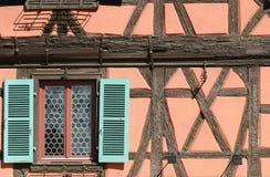 Het dorp van Alsacian stock afbeeldingen