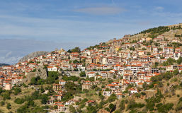 Het dorp van Arachova, Boeotia, Griekenland stock afbeeldingen