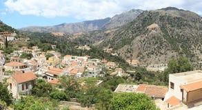 Het dorp van Argiroupolis, Kreta stock fotografie