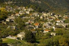 Het dorp van Aristi Stock Afbeelding