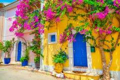Het dorp van Assos royalty-vrije stock afbeelding