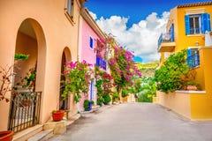 Het dorp van Assos royalty-vrije stock foto