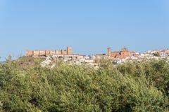Het dorp van Bañosde La encina, de provincie van Jaen, Spanje royalty-vrije stock foto