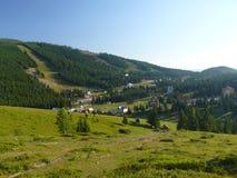 Het dorp van Barsa in Roemenië Royalty-vrije Stock Afbeeldingen