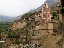 Het dorp van Berber in Atlas Royalty-vrije Stock Foto's