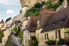 Het dorp van Beynac in Frankrijk Stock Fotografie