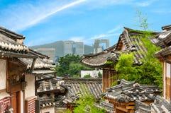 Het Dorp van Bukchonhanok Royalty-vrije Stock Foto