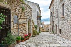 Het dorp van Buonalbergo in het Campania-gebied stock afbeelding