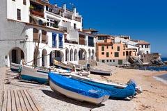 Het dorp van Calella Royalty-vrije Stock Foto's