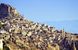 Het dorp van Cappadocia royalty-vrije stock fotografie