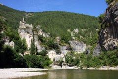 Het dorp van Castelbouc Stock Afbeeldingen