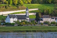 Het dorp van Chaumont sur de Loire, Loire et Cher Royalty-vrije Stock Foto's