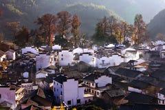 Het dorp van Chengcun in de herfst Royalty-vrije Stock Afbeelding
