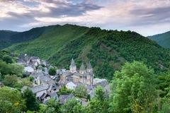 Het dorp van Conques royalty-vrije stock foto