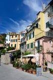Het dorp van Corniglia in Cinque Terre, Ligurië, Italië Royalty-vrije Stock Fotografie