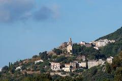 Het dorp van Corsica Stock Fotografie