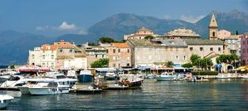 Het dorp van Corsica (Frankrijk) Stock Afbeeldingen