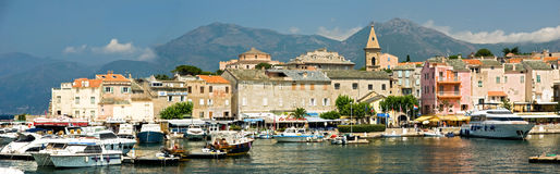 Het dorp van Corsica (Frankrijk) Royalty-vrije Stock Afbeeldingen