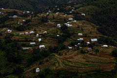 Het dorp van de berg Stock Afbeeldingen