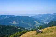 Het dorp van de berg Stock Fotografie