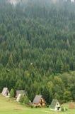Het dorp van de berg Stock Foto's