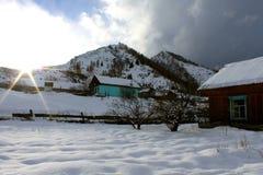 Het dorp van de berg Royalty-vrije Stock Afbeelding