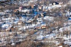 Het dorp van de berg Royalty-vrije Stock Afbeeldingen