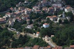 Het dorp van de berg in Corsica Royalty-vrije Stock Afbeeldingen