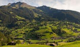 Het dorp van de berg, Zwitserland Royalty-vrije Stock Afbeelding