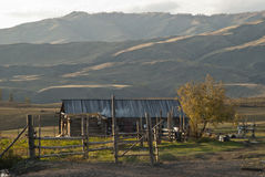 Het dorp van de grens Stock Afbeelding