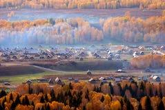 Het Dorp van de herfst Stock Afbeelding