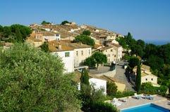 Het dorp van de heuveltop Stock Foto's