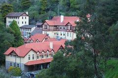 Het dorp van de Holen van Jenolan stock fotografie