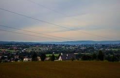 Het dorp van de hoogte Achtergrond Royalty-vrije Stock Fotografie
