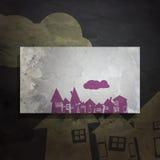 Het dorp van de kunst vector illustratie