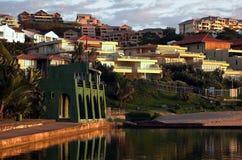 Het dorp van de kust Stock Foto's