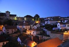 Het dorp van de nacht Stock Foto's