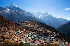 Het dorp van de Namchebazaar, Nepal Royalty-vrije Stock Afbeeldingen